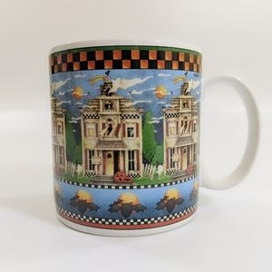 Debbie Mumm Halloween Haunted House Coffee Mug